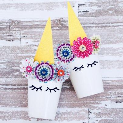 DIY Unicorn Party Favor Cup Idea