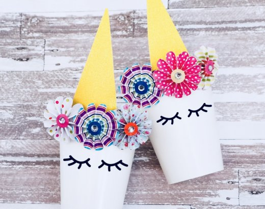 DIY Unicorn Party Favor Cup Idea