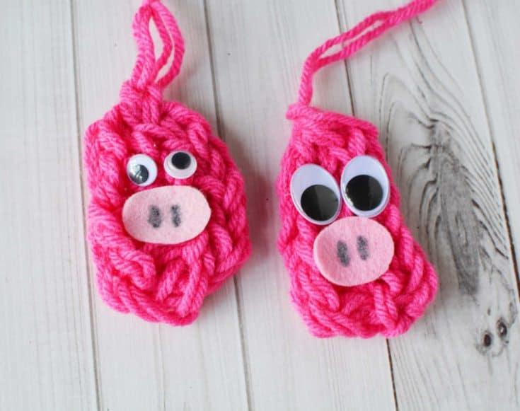 Fun Finger Knitting Pattern: Pig