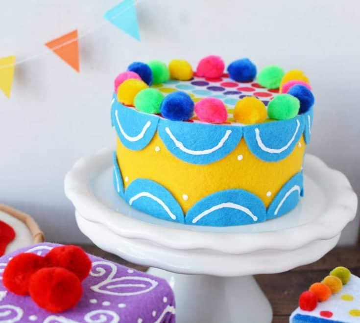 Homemade Toy Food Birthday Cake