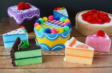 Homemade Toy Food Cakes for Kids Kitchens