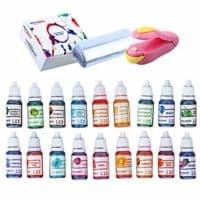 Natural Food Coloring and Soap Dye -Bundle of 18 (10ml) Liquid Bath Bomb Colorant
