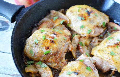 One Pan Sauteed Chicken and Apples