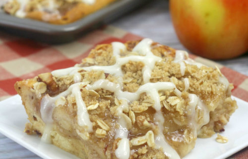 Easy Apple Slab Pie with Cinnamon Rolls Crust