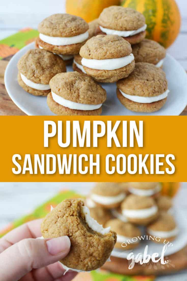 Make pumpkin sandwich cookies with cream cheese filling using a doctored up pumpkin cookie mix and cream cheese frosting.