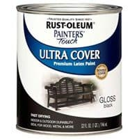 Rust-Oleum 1979502 Painters Touch Latex,  1-Quart, Gloss Black