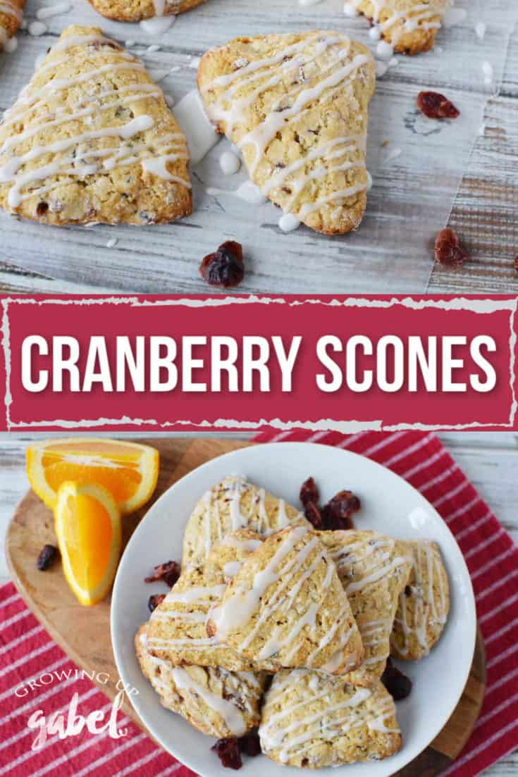 Easy cranberry scones recipe made with dried cranberries and a touch of fresh orange zest.