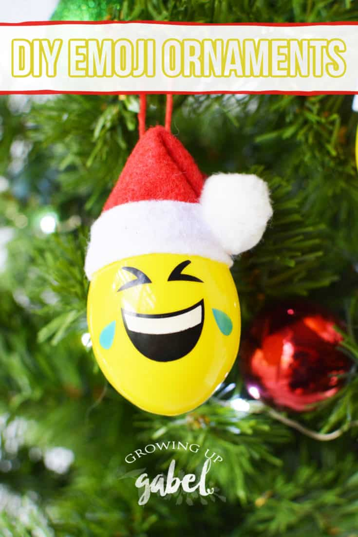 DIY emoji Christmas ornaments made from Easter eggs will lighten up your Christmas tree and make everyone smile.