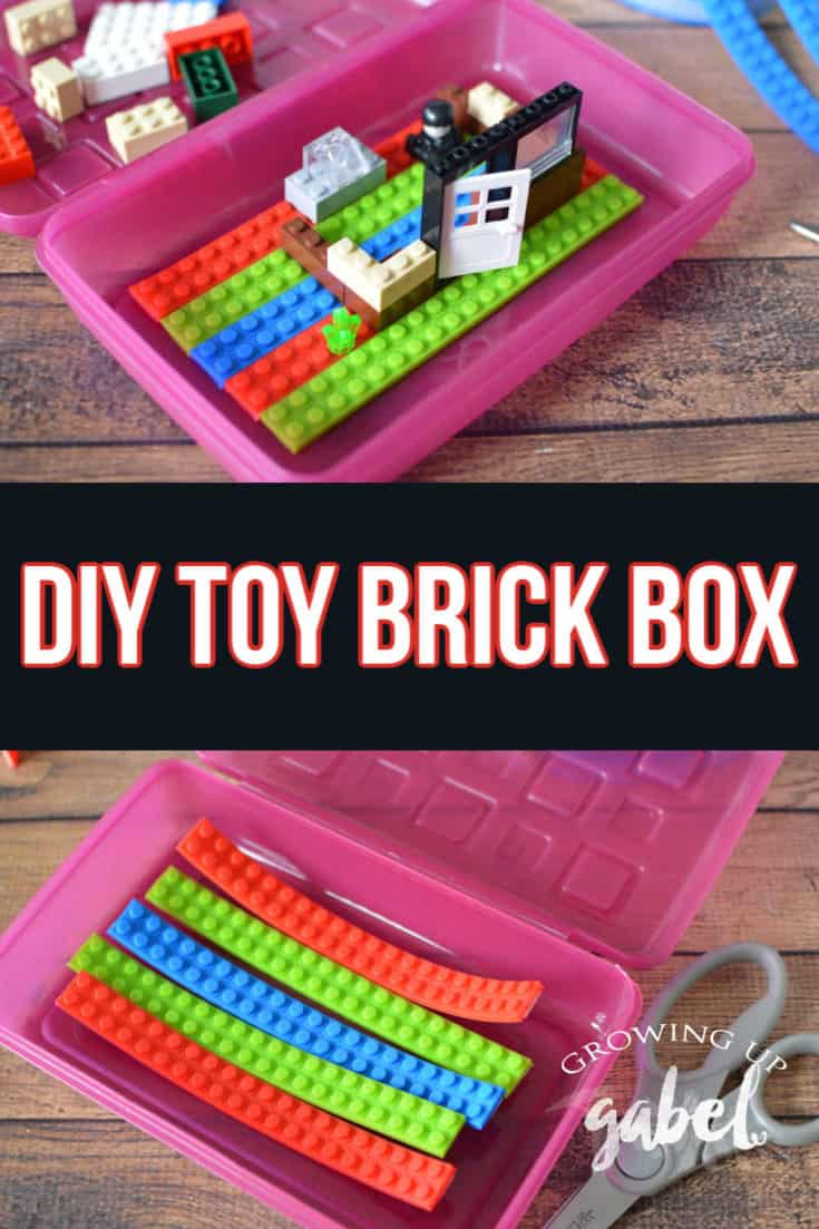 Turn an ordinary plastic pencil box into a DIY Lego box with Lego Block Tape.