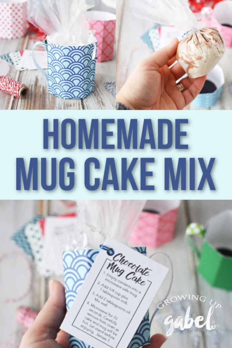 Homemade Mug Cake Recipe In Paper Mugs Growing Up Gabel