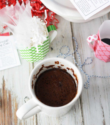 Homemade Mug Cake Recipe in Paper Mugs