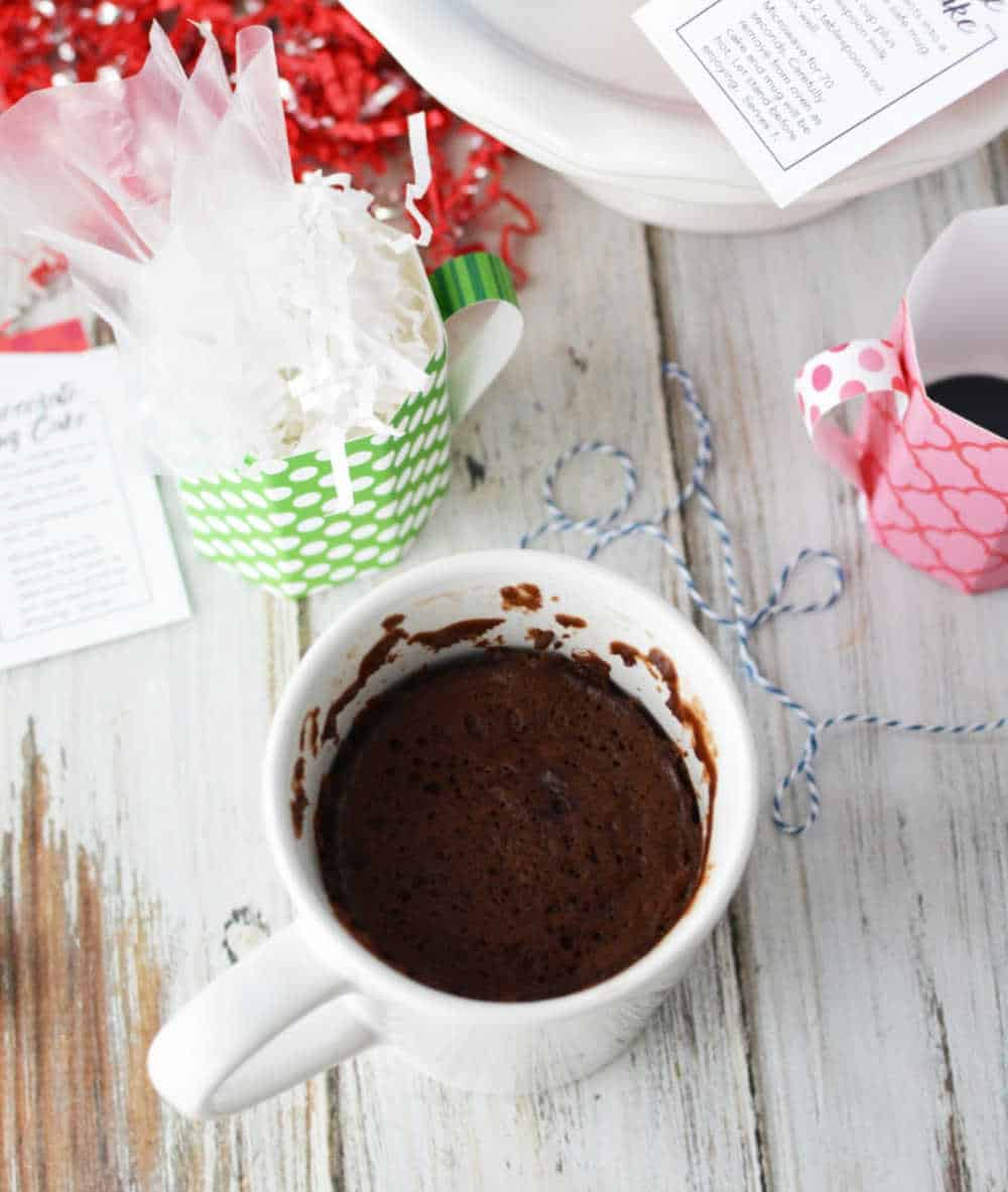 Homemade Mug Cake Recipe in Paper Mugs | Growing Up Gabel