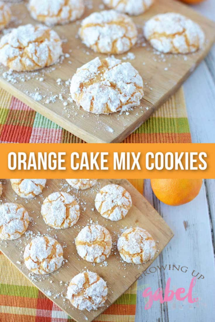 Make orange cake mix cookies with just 4 ingredients. Powdered sugar coating turns these into beautiful crinkle cookies.