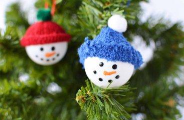 Ping Pong Snowman Craft Ornament