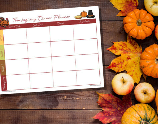 Free Printable Thanksgiving Cooking Planner