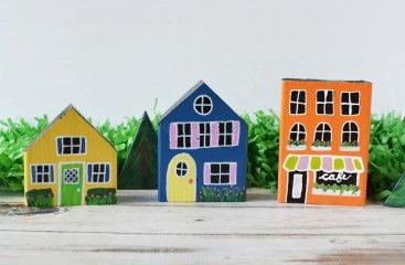 DIY Wooden Town Play Set