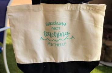 DIY Teacher Beach Bag