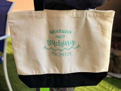 DIY Teacher Beach Bag