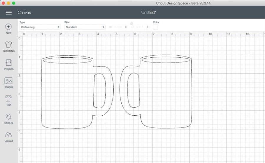 Cricut Design Space Mug Template