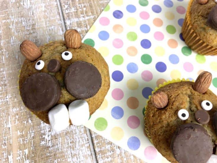 Groundhog Banana Nut Muffins