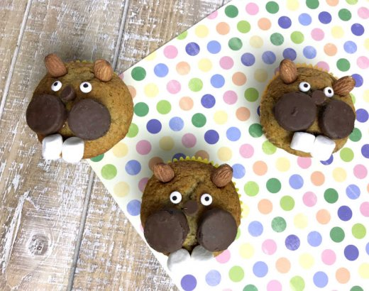 Groundhog Day Banana Bread Muffins