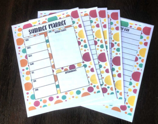 Summer Activities Planner for Kids at Home