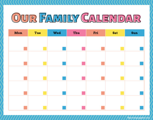 Family Calendar and Weekly To Do List