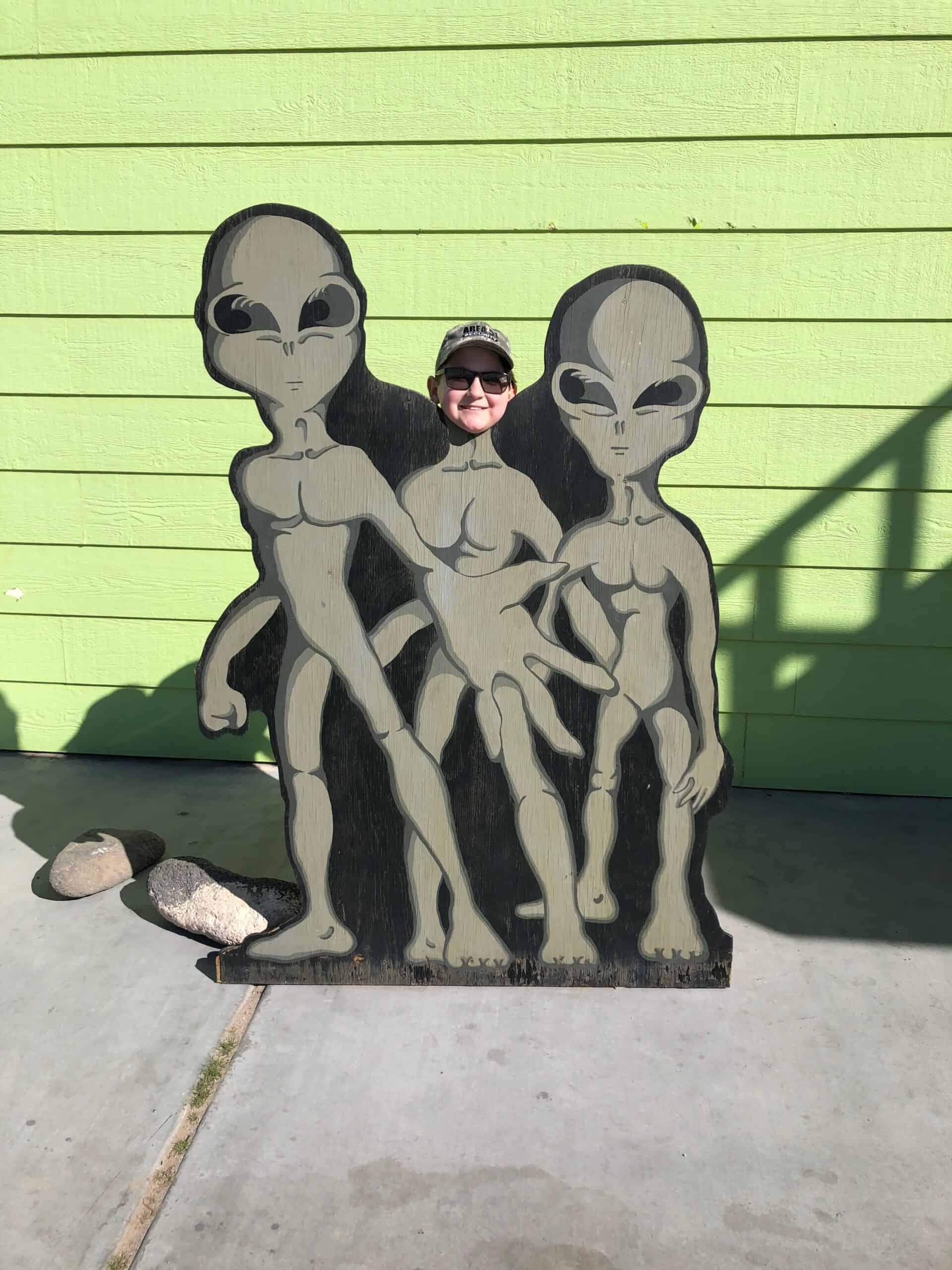 boy with aliens near Area 51