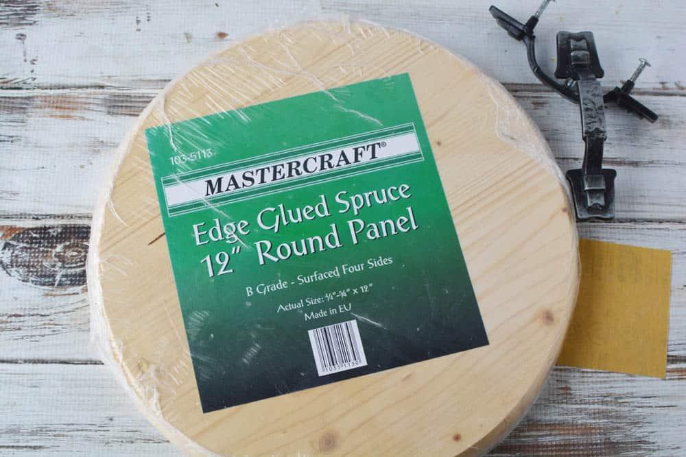 """Edge glued spruce 12"""" round wood circle panel"""