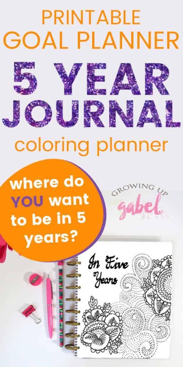 5 year goal planner