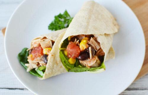 Healthy Southwest Chicken Wraps