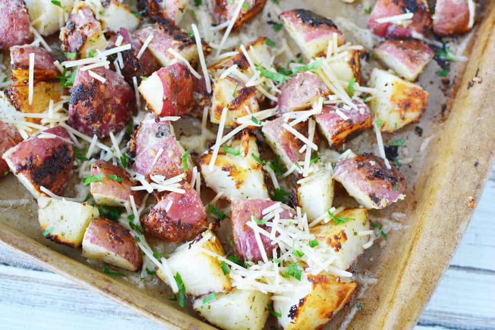 cooked Parmesan ranch potatoes