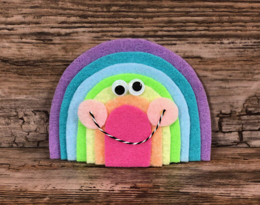 Felt Kawaii Rainbow Craft for Kids