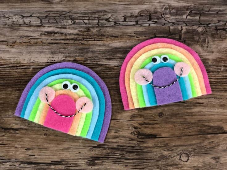 Felt Kawaii Rainbow Craft for Kids