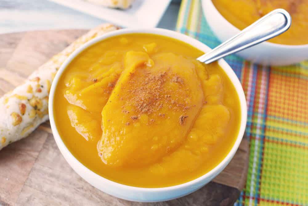 Instant Pot Squash Soup in a bowl