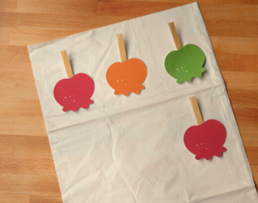 Candy Apple Twister Halloween Party Game