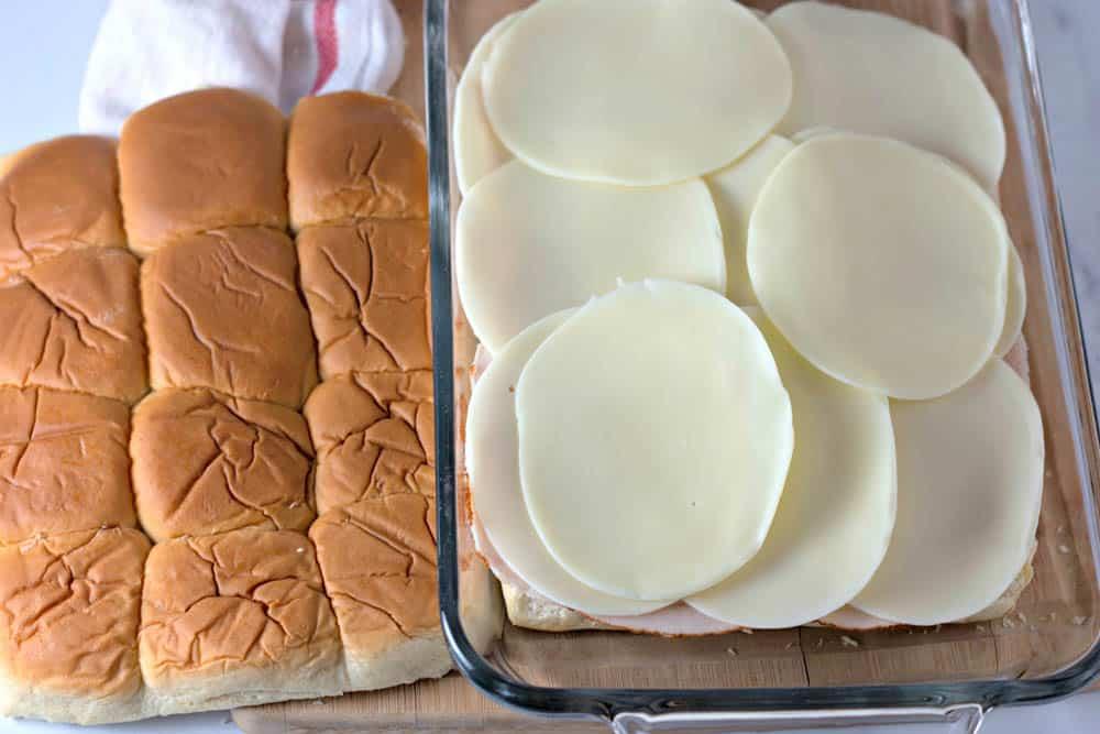 cheese on turkey sliders