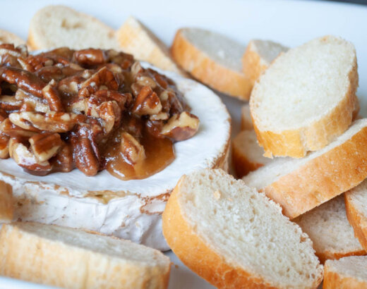 Maple Pecan Baked Brie
