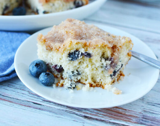 Fresh Blueberry Coffee Cake with Crumb Topping