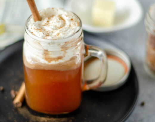 Hot Buttered Rum with a Homemade Mix