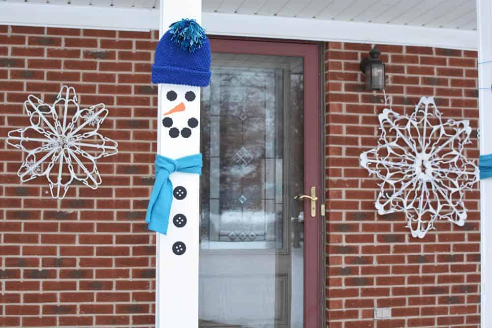 Snowman Front Porch Pillars