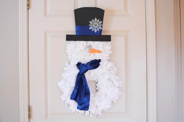 DIY Snowman Rag Wreath