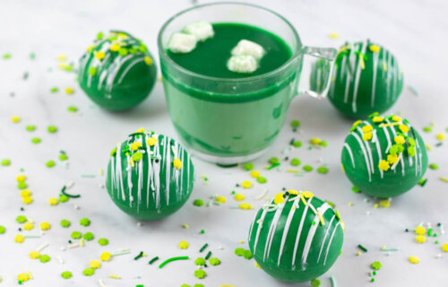 Irish Cream Hot Chocolate Bombs for St. Patrick's Day