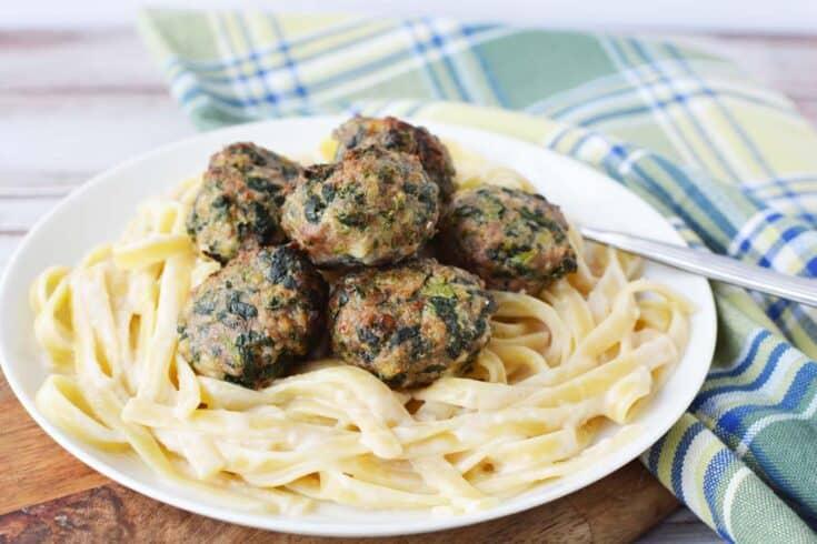 Cheesy Spinach Turkey Meatballs